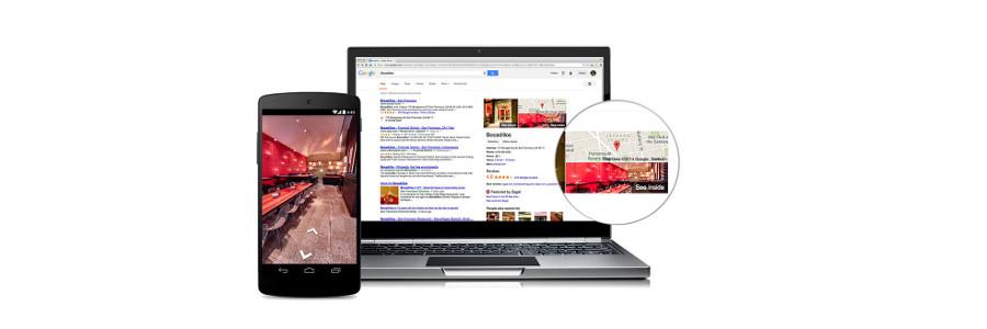 Google Rundgang für Unternehmen auf PC, smartphone und tablet